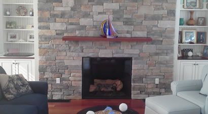 Cape Cod Stone Fireplace