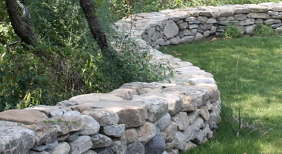 Dry Laid Stone Wall Cape Cod